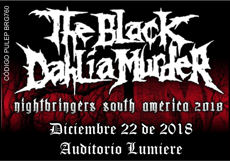 THE BLACK DAHLIA MURDER EN BOGOTÁ